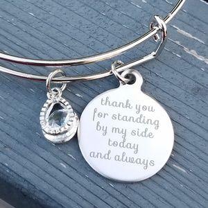 Jewelry - Bridesmaids bracelet,  friend bracelet, charm